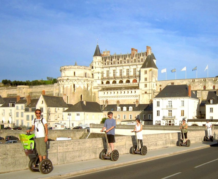 Segway Freemove château d'Amboise sur le pont de l'île d'or
