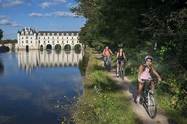 Image vélo Chenonceau bord du cher pour l'article l'écologie
